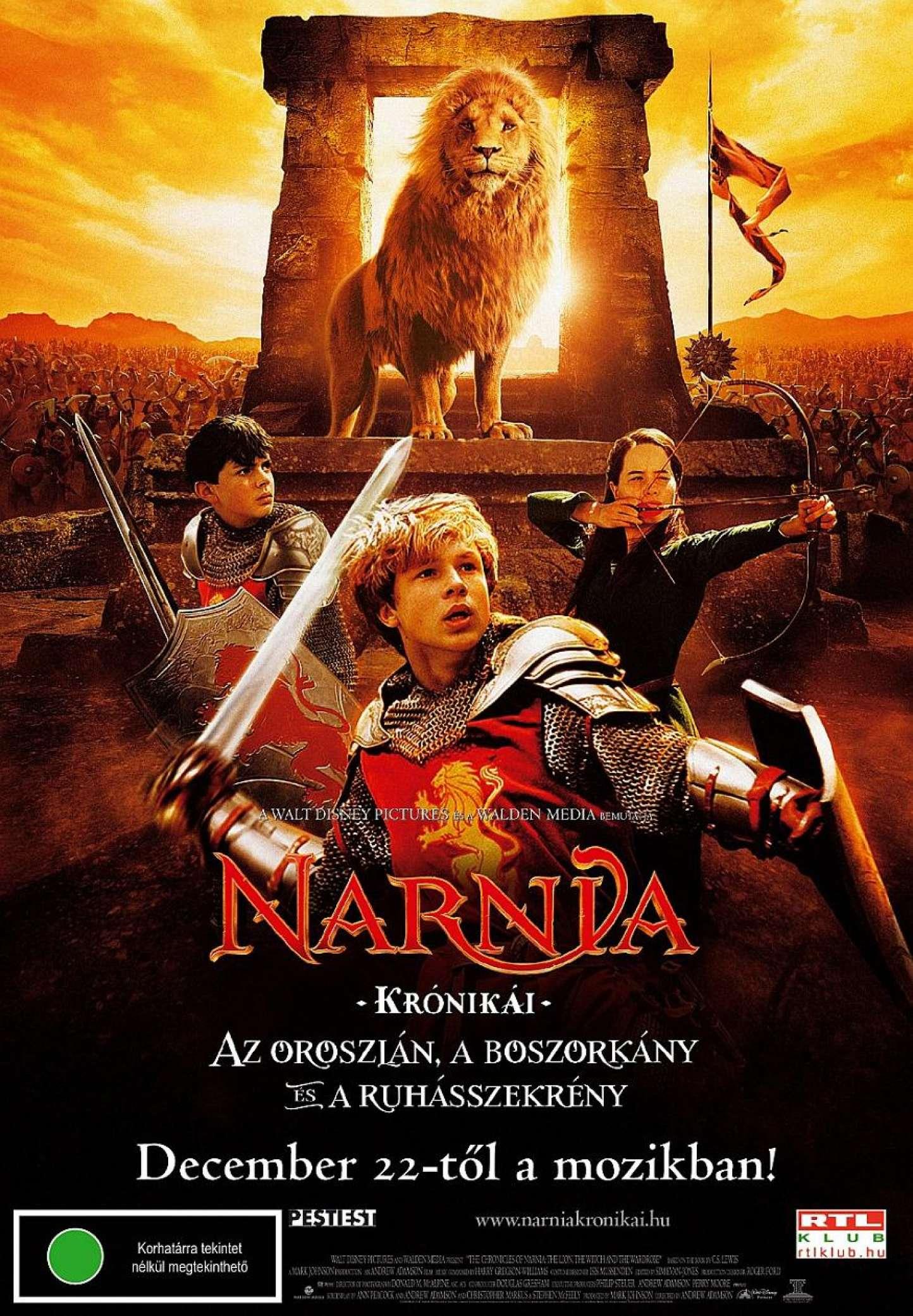 Narnia Kronikai Az Oroszlan A Boszorkany Es A Ruhasszekreny Online Film